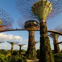 GARDENS BY THE BAY, THE MERLION AND MARINA BAY SANDS: SINGAPORE